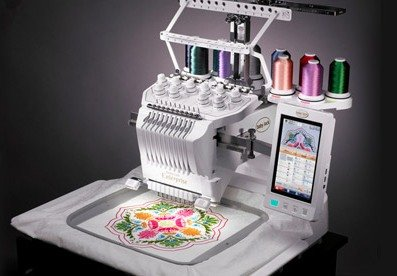 the embroidery machine