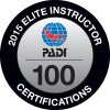 2015 Elite PADI Instructor 100 Certifications