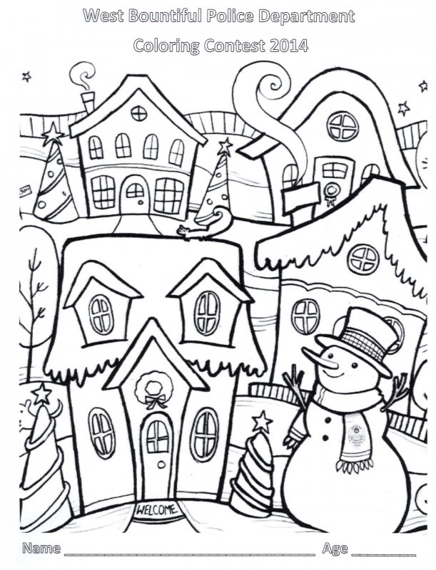 the west bountiful police department is again holding a christmas coloring contest for children ages 1 12 pick up an entry at city hall or download the