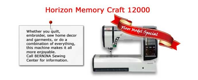 Janome, Horizon Memory Craft 12000, Floor Model, Special, Clearance