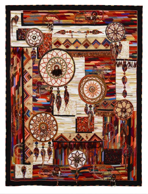 Art Quilts, Representational, 3rd Place: 'Time to Catch a Dream' by Claudia Pfeil