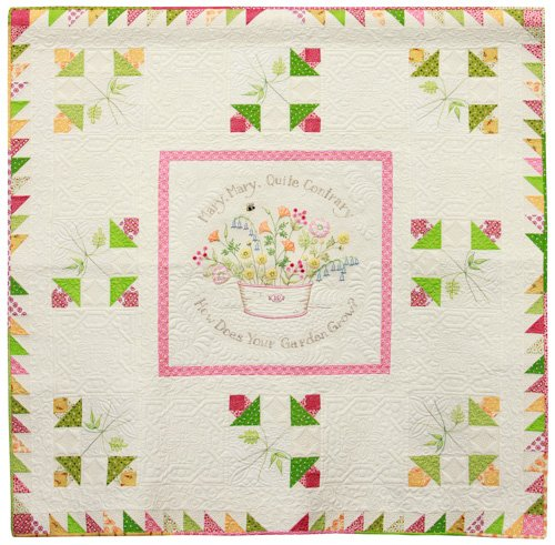 Intermediate Quilts, 3rd Place: 'How Does Your Garden Grow?' by Denise Rigsbee, quilted by Loretta Orsborne