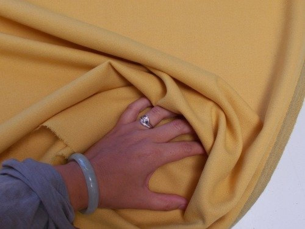 Wool Crepe - Curry Yellow