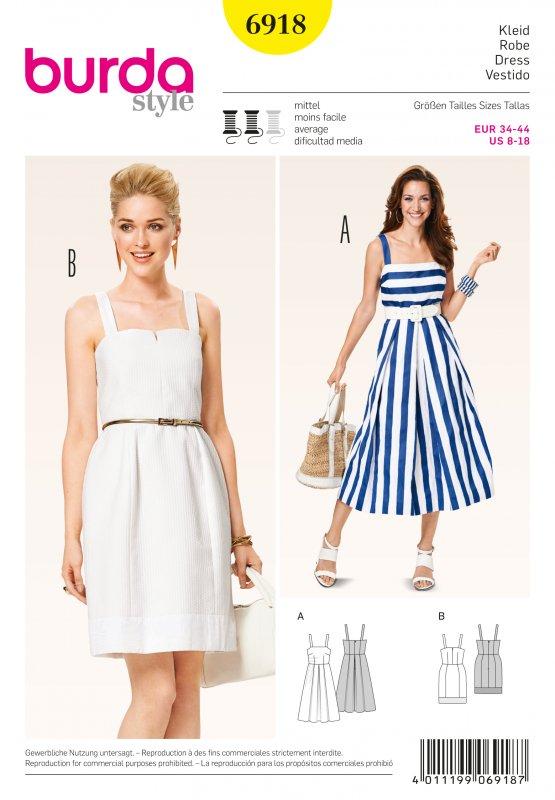Выкройки летних платьев от журнала бурда