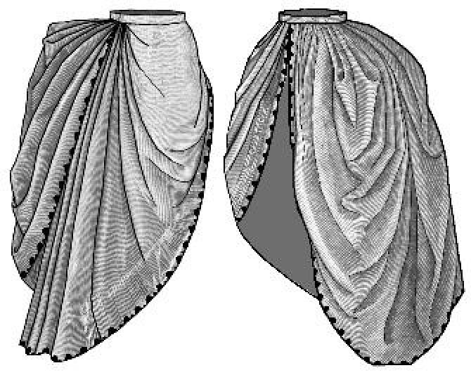 1886 Bordered Asymmetrical Overskirt