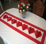 Be My Valentine Table Runner Pattern