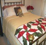 Poinsettia Table Runner/ Bed Runner