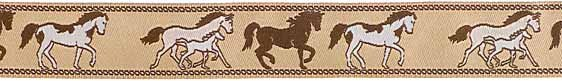 Ribbon: Brown Horse Ribbon (7/8 inch) - Renaissance Ribbons 5-70/23mmcol1