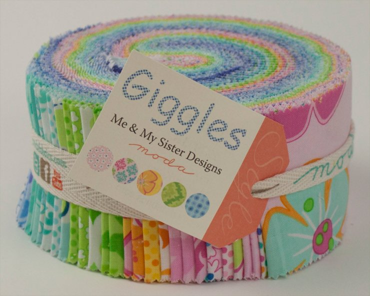 Giggles - Jelly Roll - by Moda