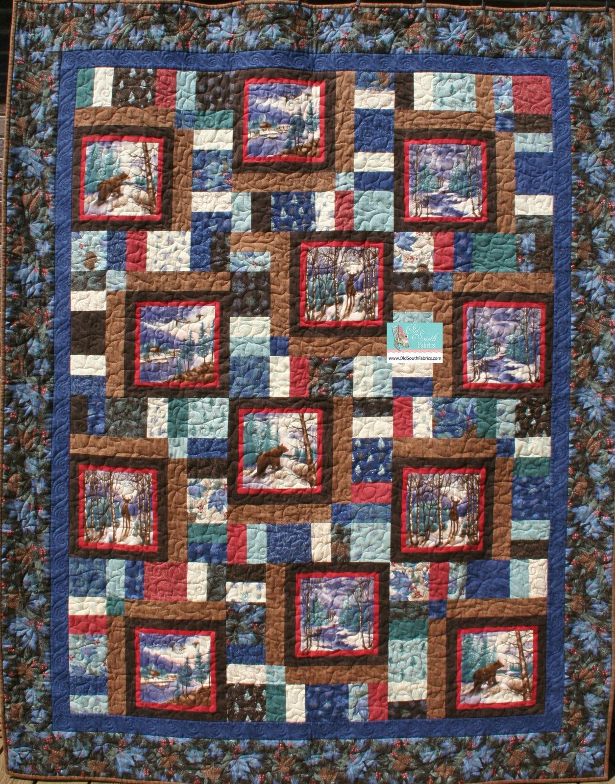 Winter Forest Flannel Quilt Kit By Holly Taylor For Moda