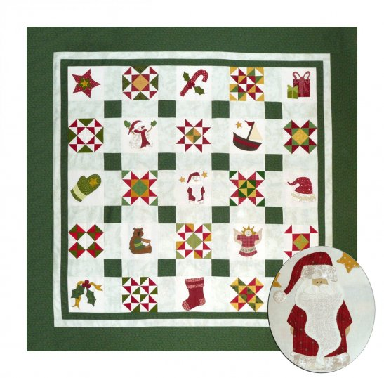 Sue Garman - Night Before Christmas - 6 inch pieced and applique blocks