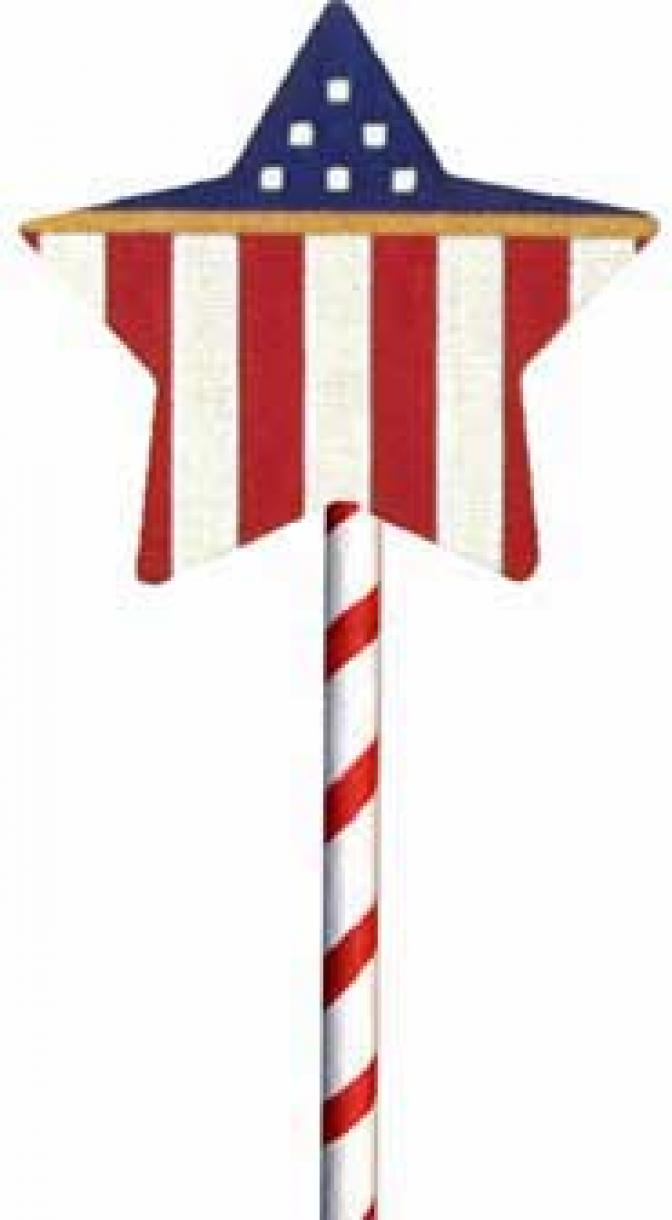 MS1279B 4th of July Stars & Stripes Lollipop