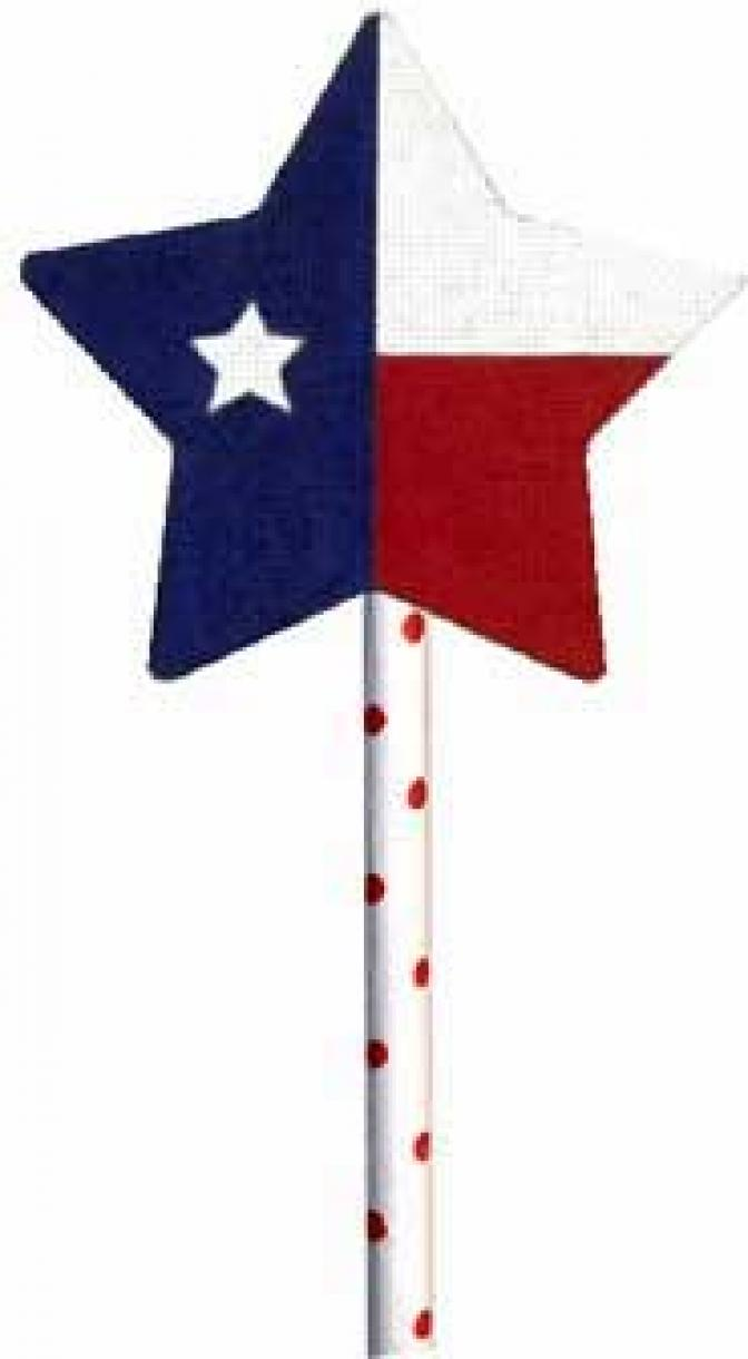 MS1279C 4th of July Lone Star Lollipop