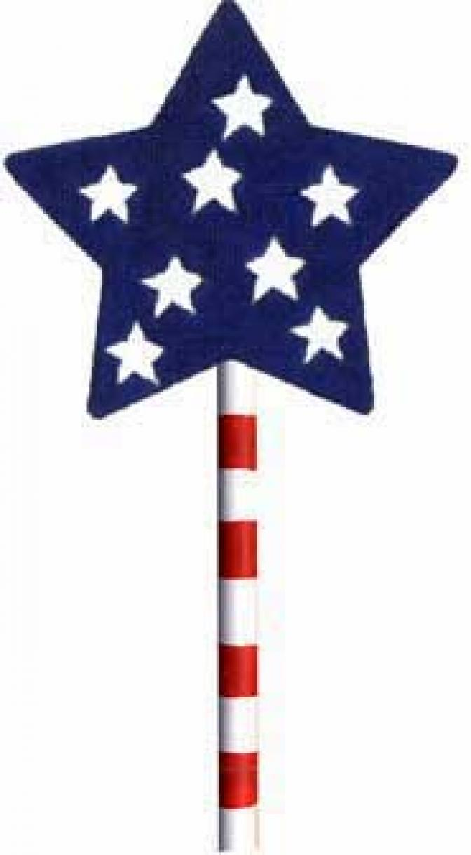 MS1279D 4th of July Stars Lollipop