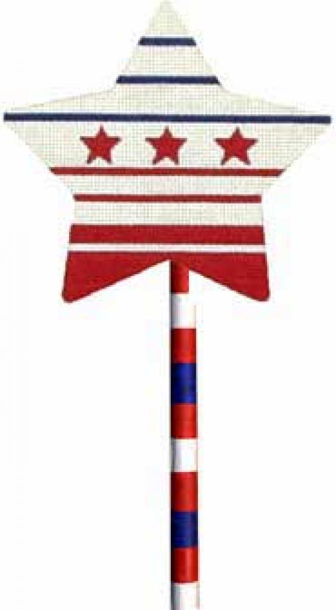 MS1279F 4th of July Red Star Lollipop