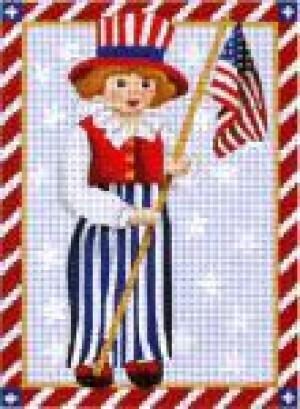 MS1318B Victorian 4th of July Flag Boy