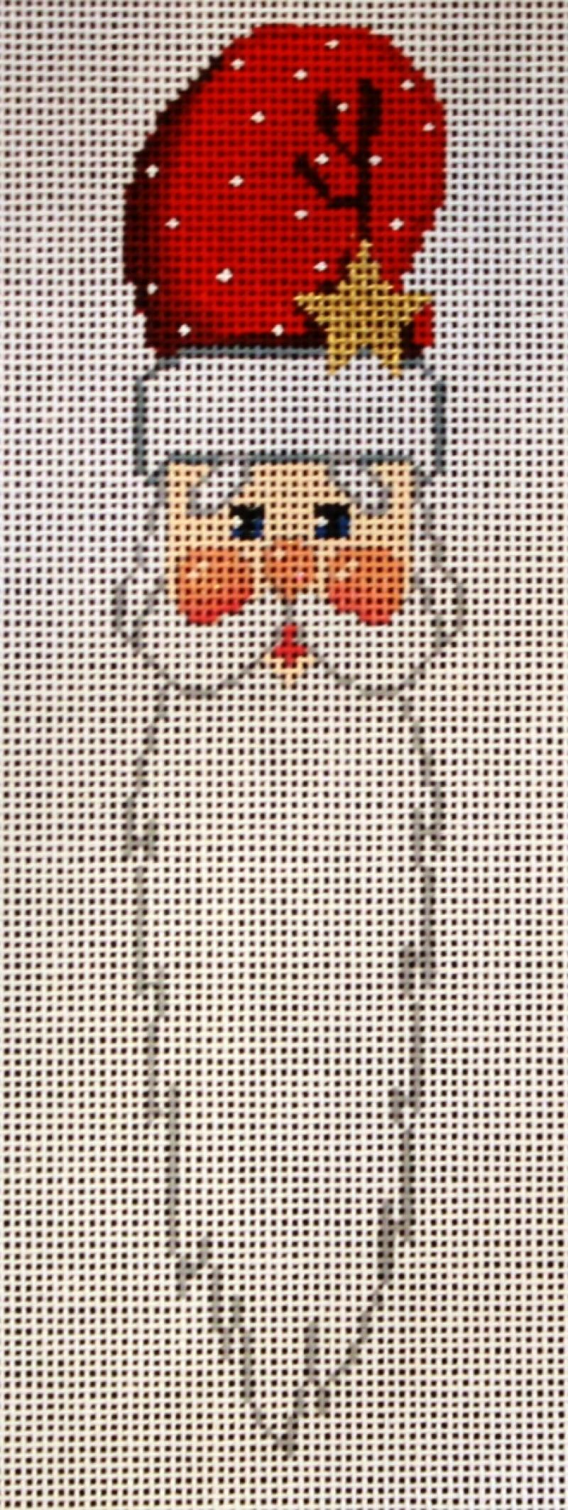 SRCD0420 Whiskers 7.5 long Santa Face Red Star