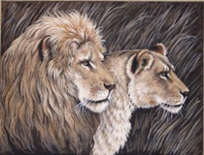 TTAP448 Lion Couple