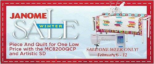 Janome Sale February 6 - 12