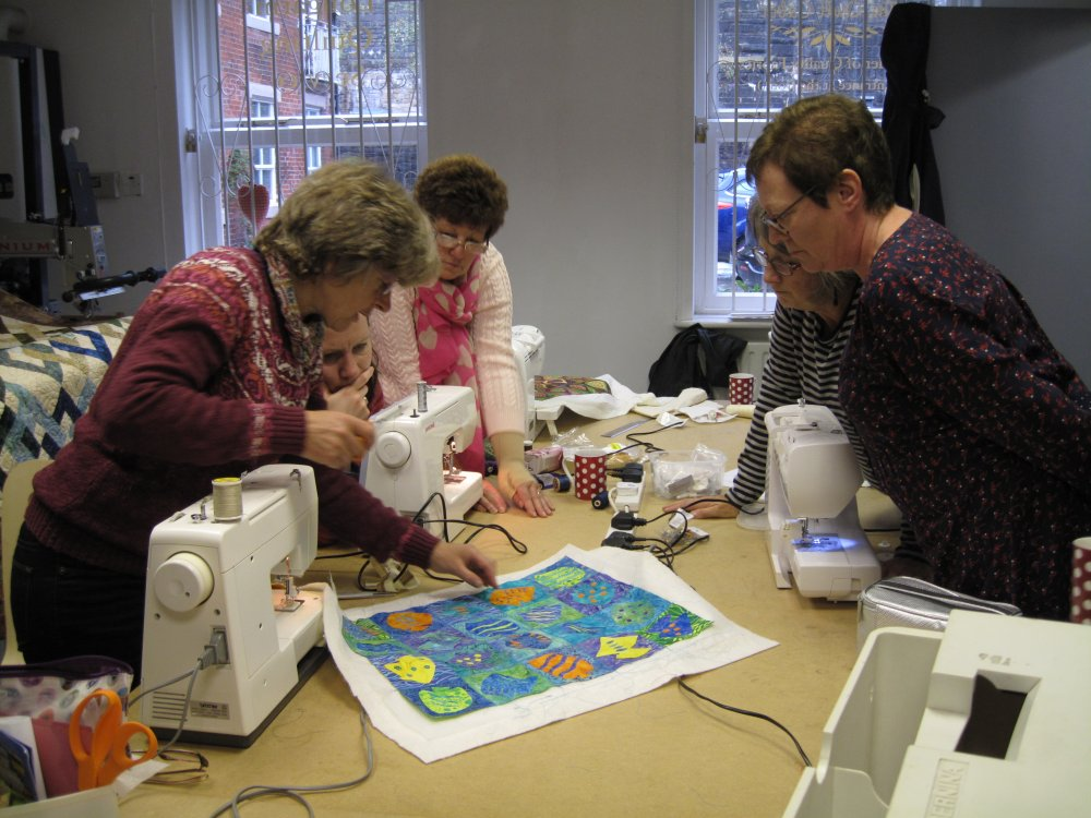 Gillian Travis workshop at The Quilt Cabin Hebden Bridge