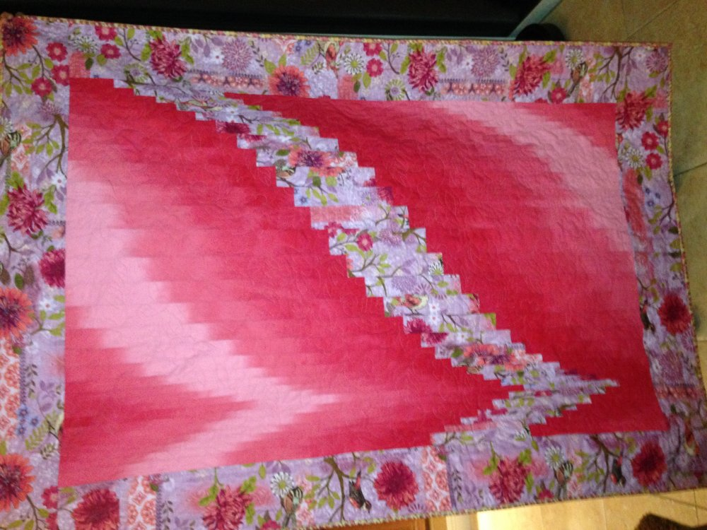 Quilt Patterns With Two Fabrics : 2 FABRIC BARGELLO