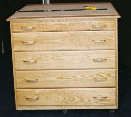 Unique Sewing Furniture Chest of Drawers Cutting Table Model 282