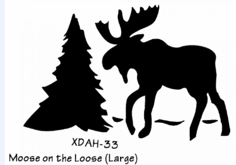 how to stencil bears moose on wood red cap work wear pietroski ...