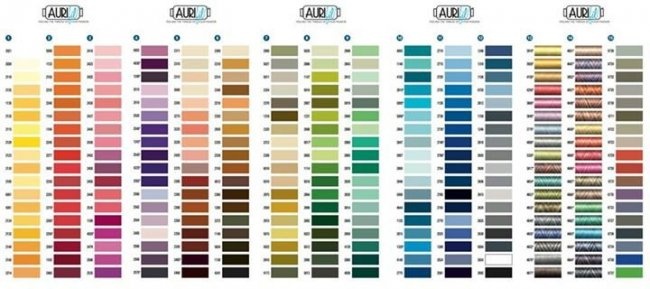 2014 Aurifil Color Chart from WashTub Quilts