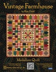 Free Quilt Pattern by Kim Diehl - Vintage Farmhouse Medallion Quil