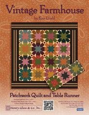 Free Quilt Pattern by Kim Diehl - Vintage Farmhouse - Patchwork Quilt & Table Runner