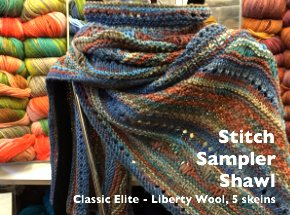 Stitch Sampler Shawl