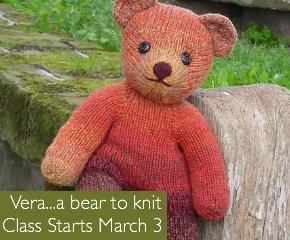 Vera...a bear to knit