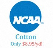 Licensed NCAA University fabrics by the yard.