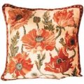cream indian poppies needlepoint kit