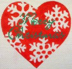 Christmas needlepoint ornament