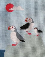 Puffin needlepoint