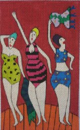 bathing beauties jennifer pudney needlepoint kit