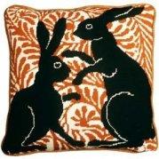 black boxing hares needlepoint