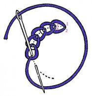 needlepoint chain stitch how to