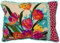 ruby flush needlepoint kit