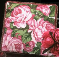 roses affordable needlepoint kit