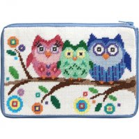 stitch and zip small needlepoint kit