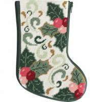 mini Christmas stocking needlepoint kits