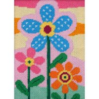 three flowers easy needlepoint kit