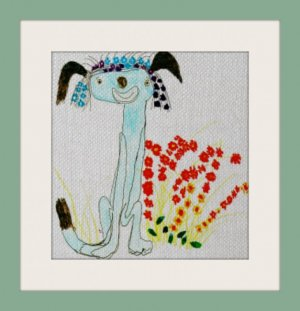 custom needlepoint of children's art