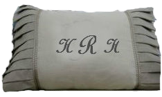 custom needlepoint monogram pillow