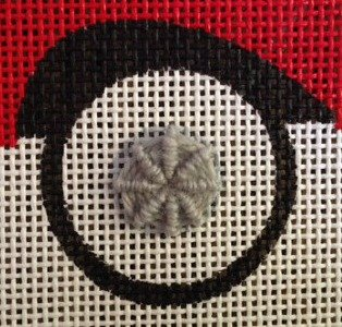 needlepoint couched ray stitch how to