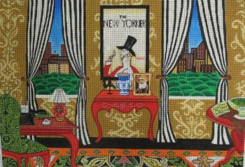 The New Yorker needlepoint