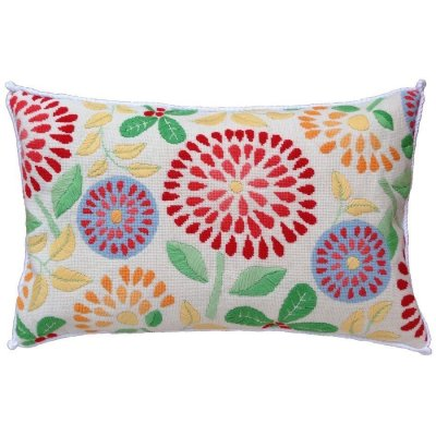 flower power needlepoint pillow kit