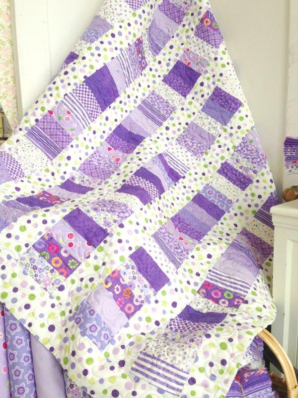 Purple Strip Quilt Kit